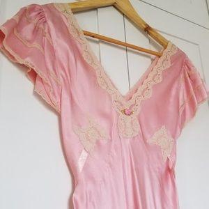 100% Silk pink slip dress